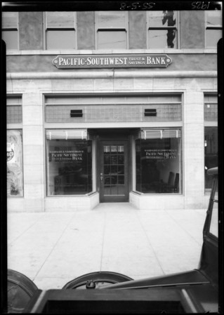 South Vermont Avenue and West Washington Boulevard, Pacific-Southwest Bank, 1605 West Washington Boulevard, Los Angeles, CA, 1925
