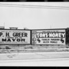 Board at West Temple Street and Robinson Street, Los Angeles, CA, 1929