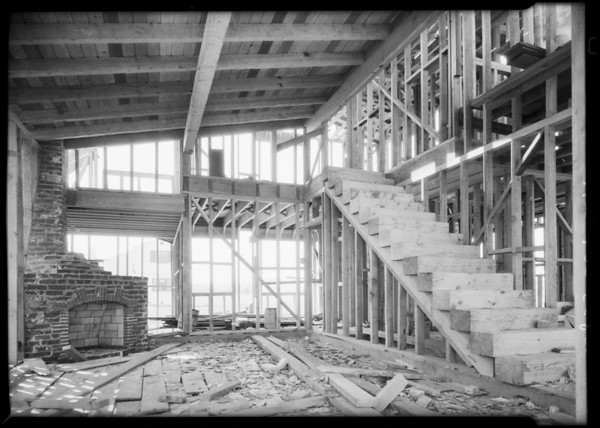 McCombs home on 9th Avenue under construction, Southern California, 1928