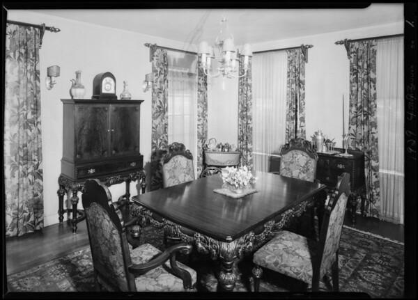 Interior and exterior of 5110 Los Feliz Boulevard, Los Angeles, CA, 1929