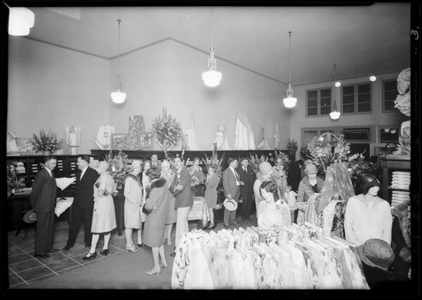 Interiors of opening new stores, Southern California, 1929