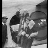 Aimee McPherson leaving airport, Southern California, 1929