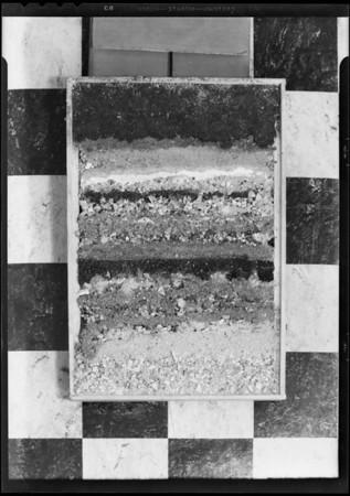 Strata of earth, Southern California, 1931