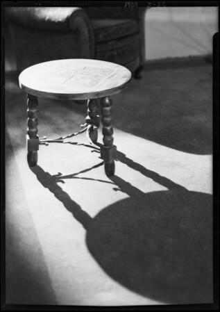Taboret, Western Metal Iron Furniture, Southern California, 1929