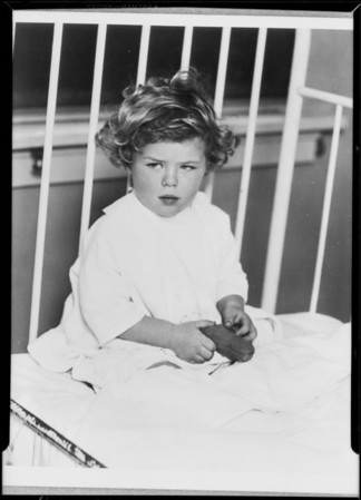 Child in bed, Community Chest, Southern California, 1929