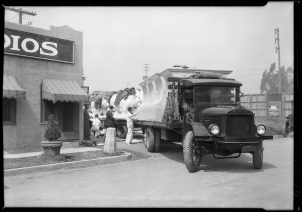 Samuel Shine truck India equipped, Southern California, 1928
