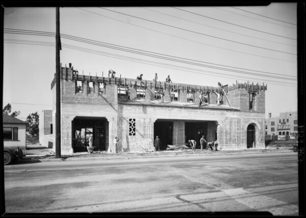 New fire hall at 5900 West 3rd Street, Los Angeles, CA, 1929