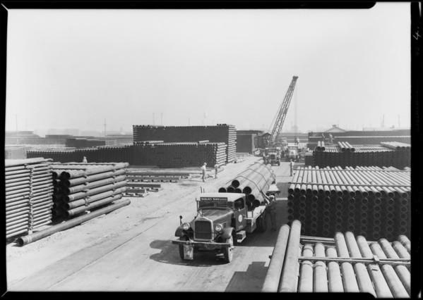 General Petroleum trucks at Republic Supply Co., Los Angeles, CA, 1929