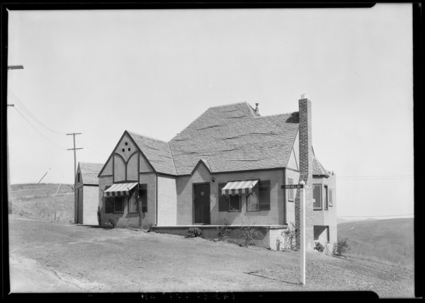 Houses in Highland Park Villa tract, Los Angeles, CA, 1925