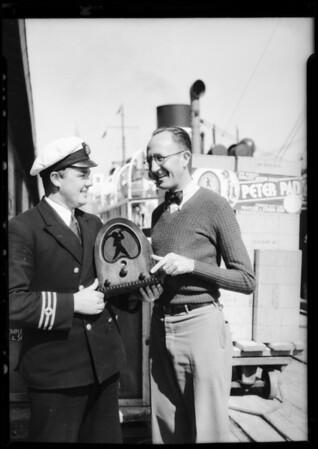 Shipment to London via S. S. Gracia, Jackson Bell Radio, Southern California, 1931