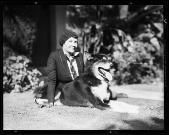 'Sky', Alaskan husky, Southern California, 1931