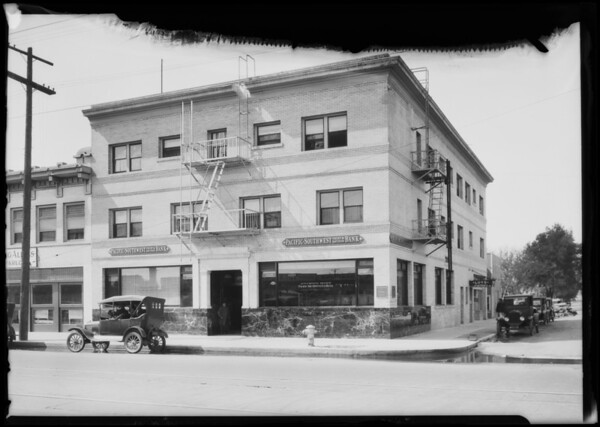 47th & Broadway, Pacific-Southwest Trust & Savings Bank, Los Angeles, CA, 1925