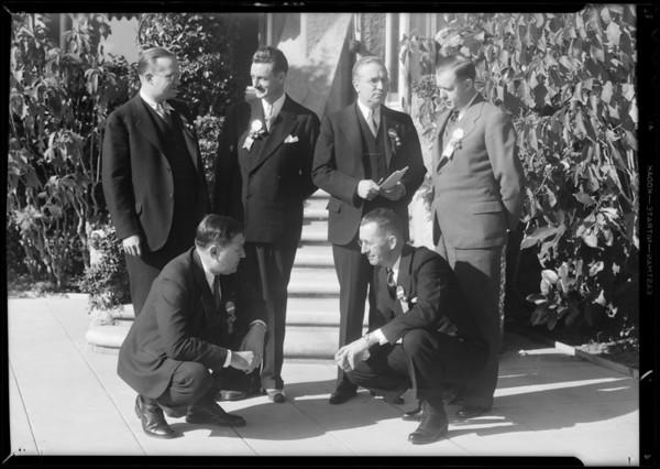 Convention groups at Huntington Hotel, Pasadena, CA, 1931