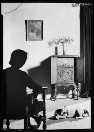 Small model radio, Advance Radio, Southern California, 1929