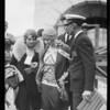 Aimee McPherson leaving airport, Southern California, 1929