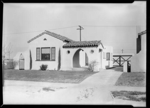 Houses at Leimert Park, Los Angeles, CA, 1928