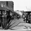 An Olvera Street scene where different shops are set up