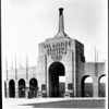 A view of the entrance to the Los Angeles Memorial Coliseum