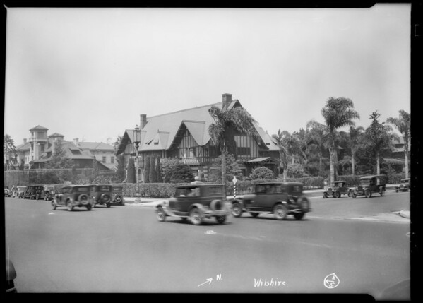 Street intersections and views around 6th Street and Vermont Avenue, Los Angeles, CA, 1928