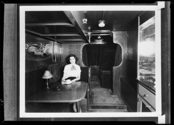 Interior of bus, White Co., Southern California, 1931