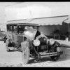 Wrecked Buick at George Orris Garage, 262 North Canon Drive, Beverly Hills, CA, 1929
