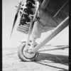 Straight front view of new plane & odd shot of motor, Southern California, 1929