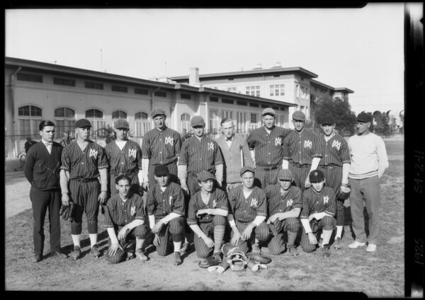 Manual Arts Ball Team, Southern California, 1925