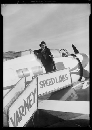 Louella Parsons, Grand Central Airport, Glendale, CA, 1931