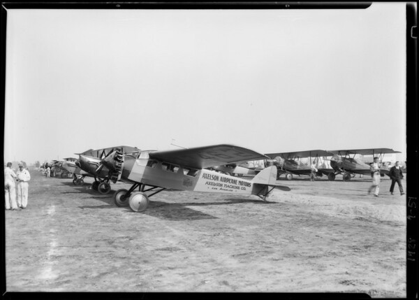 Axelson ship at Mines Field [Los Angeles International Airport], Los Angeles, CA, 1928