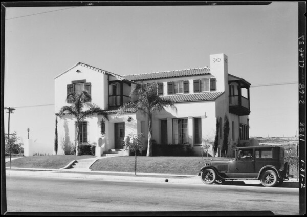 MacLean house on hill at View Park, View Park-Windsor Hills, CA, 1928