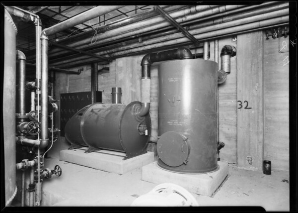 County Hospital plumbing installations, Los Angeles, CA, 1931