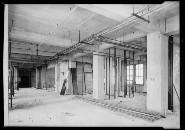 County Hospital work, Howe Brothers Plumbing, Los Angeles, CA, 1931