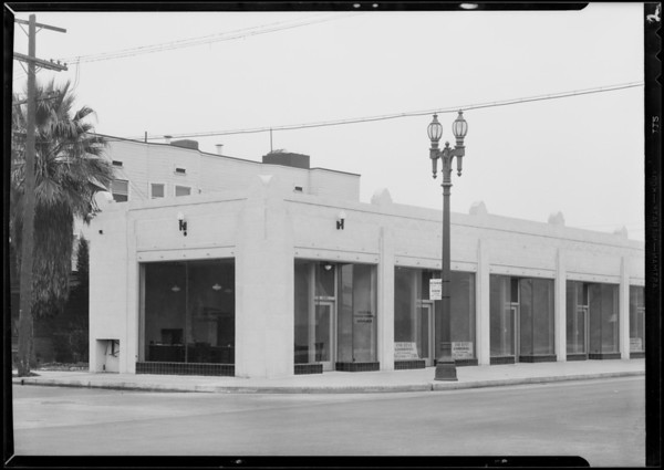 Windows in store at West 15th Street and South Broadway, Los Angeles, CA, 1931