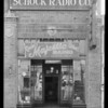 Store exterior, Schock Radio Co., 2424 West Washington Boulevard, Los Angeles, CA, 1930