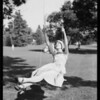 Betty Baker & Lord swing, Southern California, 1927