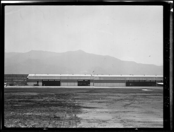 Hangar shots for 12 plane composite, Southern California, 1929