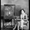 Radio at Metro-Goldwyn-Mayer Studios, Aileen Pringle, Anita Page, & Blanche Le Clair, Southern California, 1928