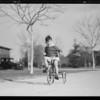 Boy on tricycle, The May Company, Southern California, 1931