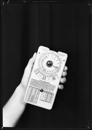 Square D calculator for pamphlet, Southern California, 1931