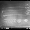 Blackboard, drawing of eye, department 11-hall records, Los Angeles, CA, 1931