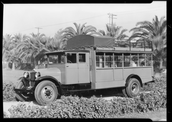 Los Angeles County truck,  Southern California, 1929