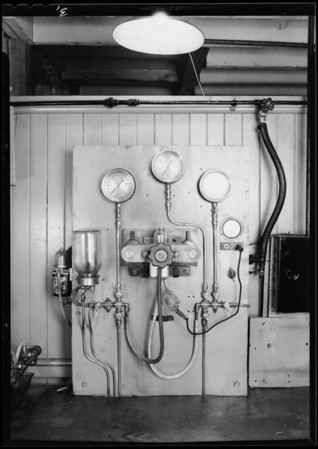 Electrical panels for generators, Electrical Equipment Co., Southern California, 1930