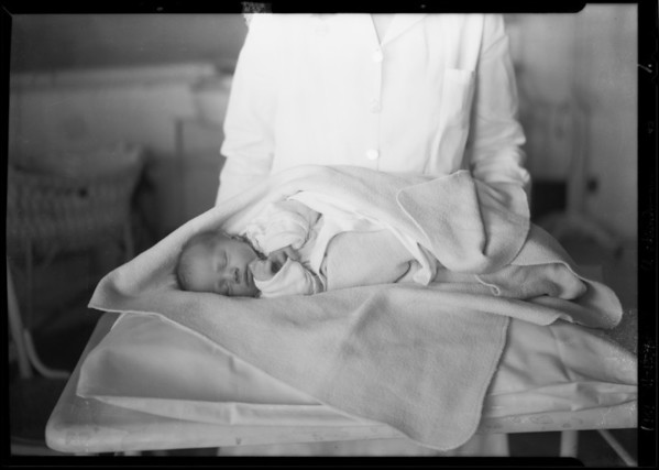 Mr. Sylvester's 2 day old infant, Southern California, 1929
