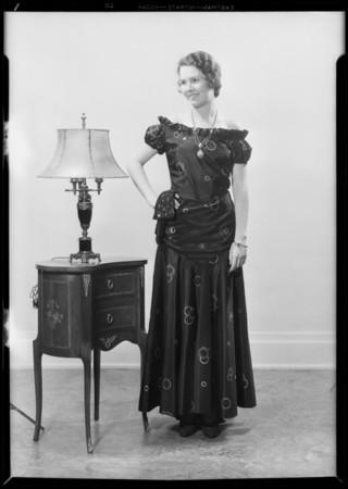 Women's dress, J.W. Robinson Co., Southern California, 1931