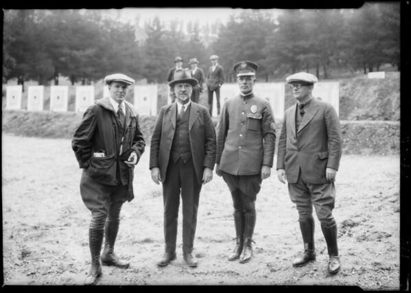 Gun shooting contest, Southern California, 1925