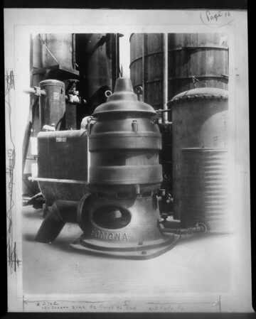 Eastern installations of Pomona Pump, Southern California, 1929