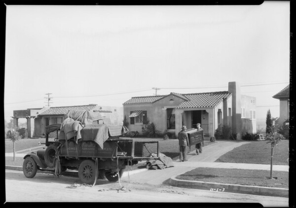 Homes in View Park, Southern California, 1927
