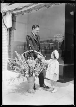 Mr. Block's daughter Jacqueline, publicity at Leimert Park, Los Angeles, CA, 1929