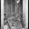 Closet in burned house at 1642 McCollum Street, Los Angeles, CA, 1931