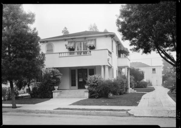 1726 North Mariposa, Southern California, 1925